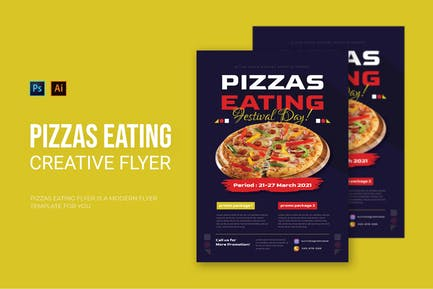 Pizzas Eating - Flyer