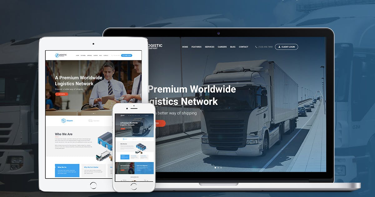 Download Logistics Company by ThemeREX