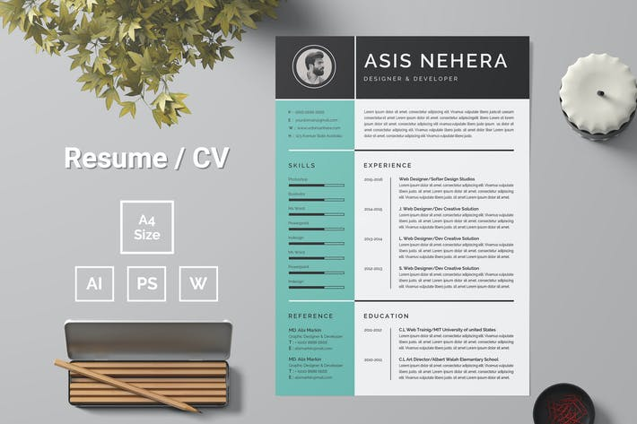 Thumbnail for Resume Template 92