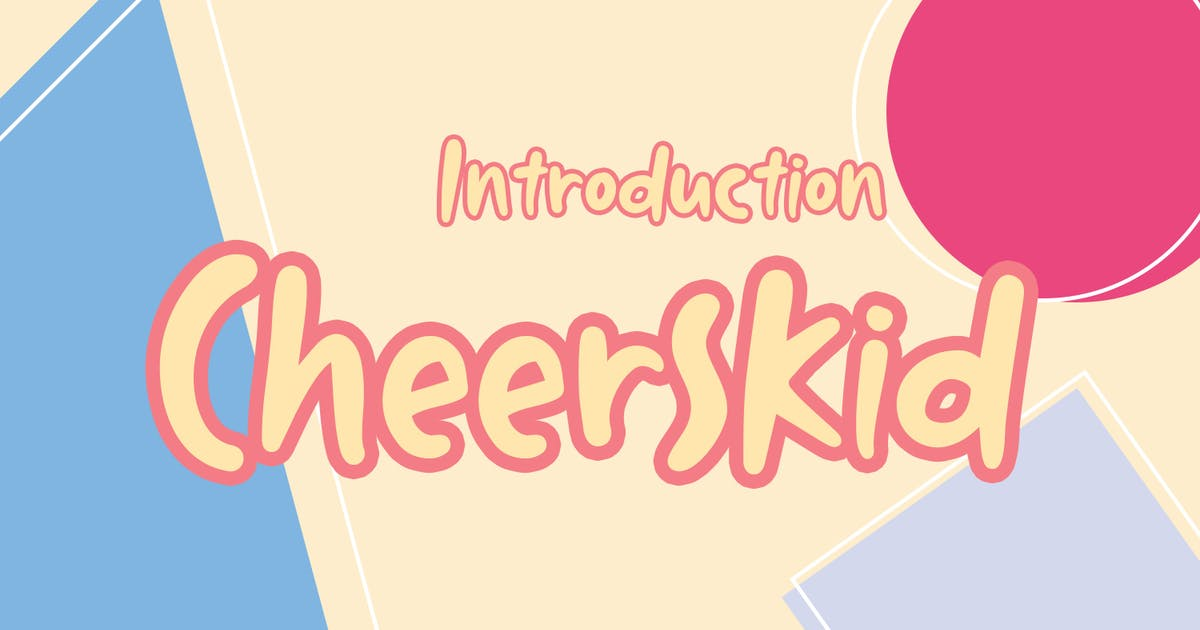 Download Cheerskid Font by templatehere