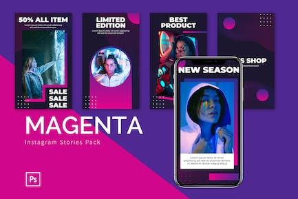 Magenta - Instagram Story Pack