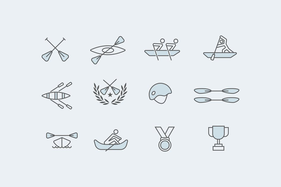 Download 12 Rowing Icons by creativevip