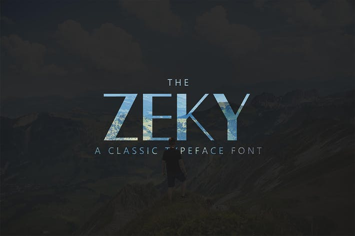 Thumbnail for Zeky Typeface Font