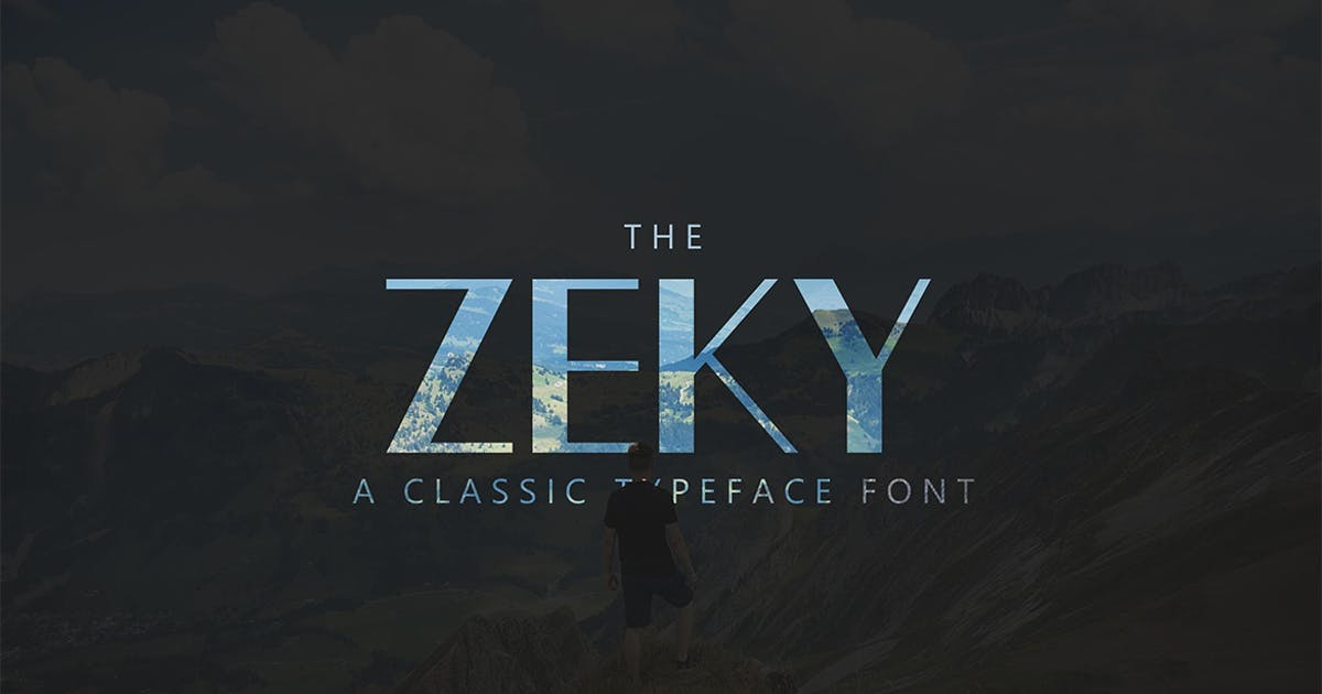 Download Zeky Typeface Font by sameehmedia