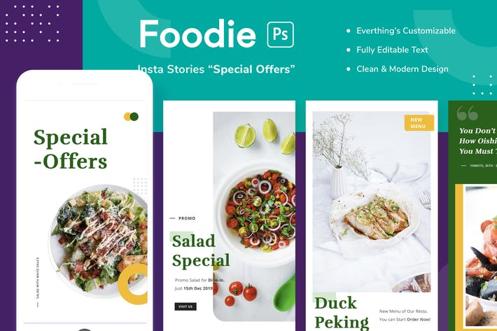 Thumbnail for Foodie Insta Stories - Special Offers