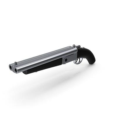 Escopeta Doble Cañón Acero Negro