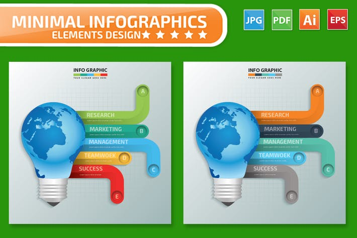 Thumbnail for Global Idea Infographics Design