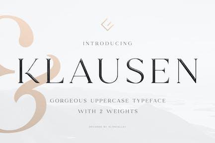 Klausen - Stylish All Caps Serif