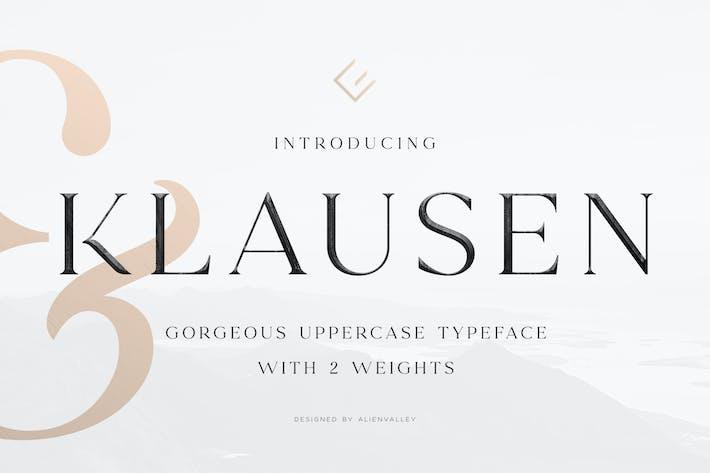 Thumbnail for Klausen - Stylish All Caps Serif