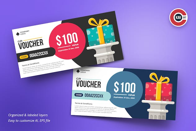 Gift Voucher Card Design Template