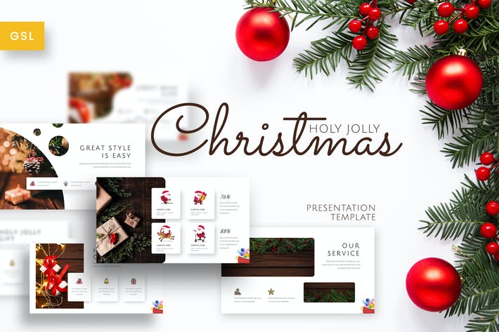 Thumbnail for Holy Joly - Christmas Google Slides Template