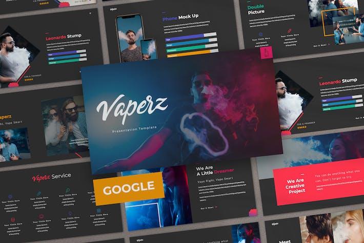 Thumbnail for Vaperz Business Google Slide Template