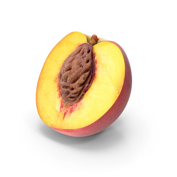 Pfirsich Halb geschnitten mit Samen