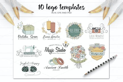 Vector logo templates in AI and PSD