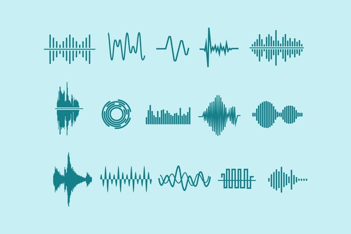 Cover Image For 15 Audio Waveform Icons