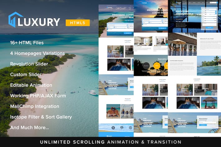 Thumbnail for Luxury Interactive Hotel Template