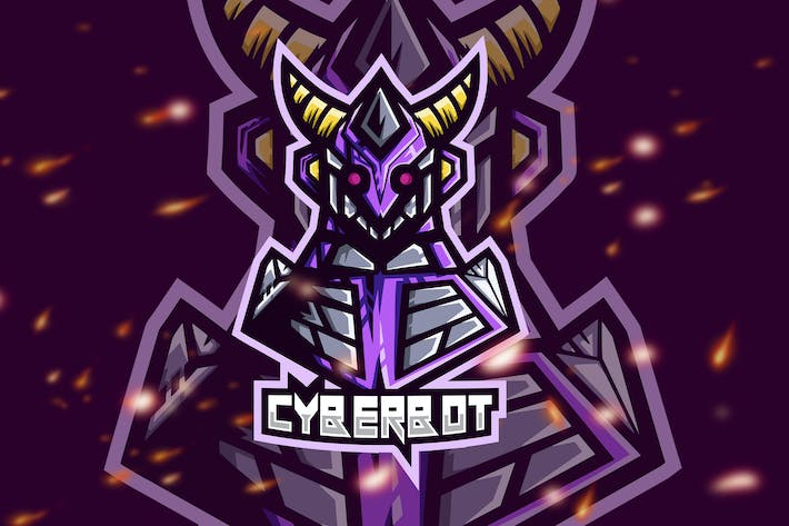 Thumbnail for Cyberbot Robot Esport Gaming Logo