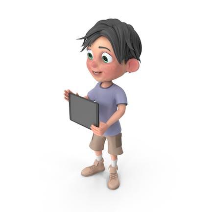 Мультфильм мальчик Джек Холдинг планшет