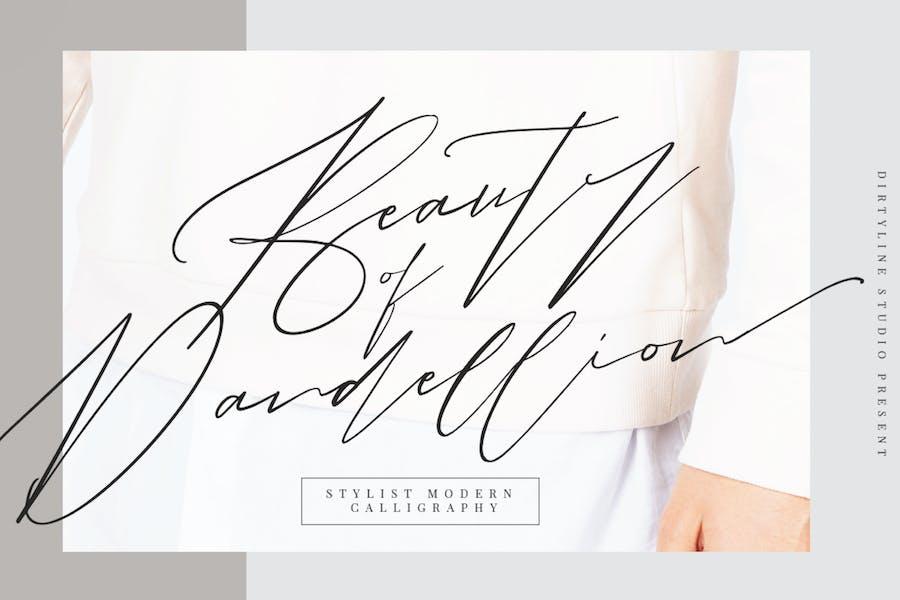 Beauty of Dandelion Script Wedding Font