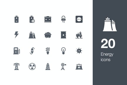 20 Energy icons