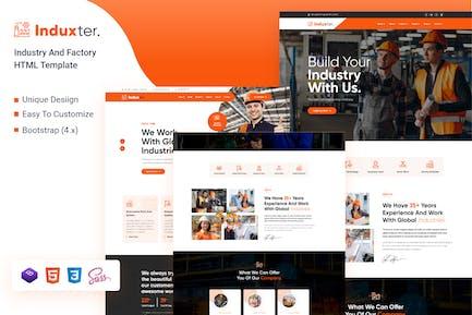 Induxter - Industrie- und Fabrik-HTML-Vorlage