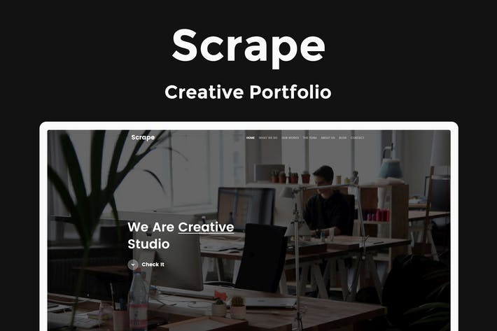Thumbnail for Scrape - Creative Portfolio Template