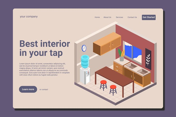 Thumbnail for Interior Design - Landing Page