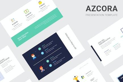 Azcora - Education Infographic Google Slides