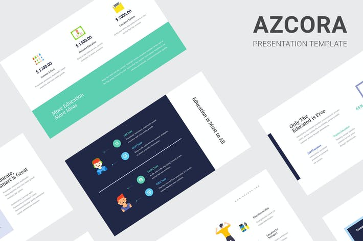 Thumbnail for Azcora - Education Infographic Google Slides