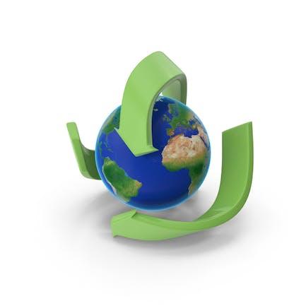 Recycling mit Erde