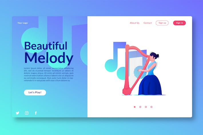 Thumbnail for Beautiful Melody - Landing Page GR