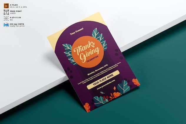 Thanksgiving Flyer Template Vol. 01