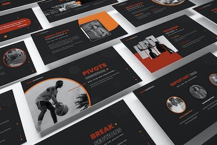 Pivots Basketball Powerpoint Presentation Template
