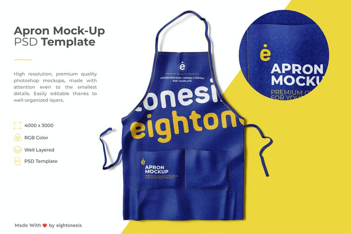 Thumbnail for Apron Mock-Up PSD Template