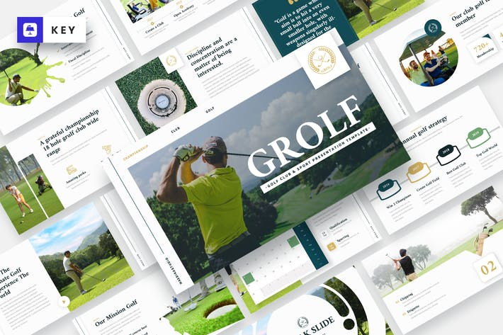 Thumbnail for GROLF - Golf Club & Sport Keynote Template
