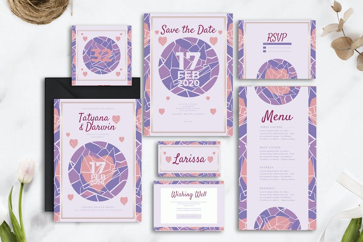 Thumbnail for Decorative Heart - Wedding Invitation