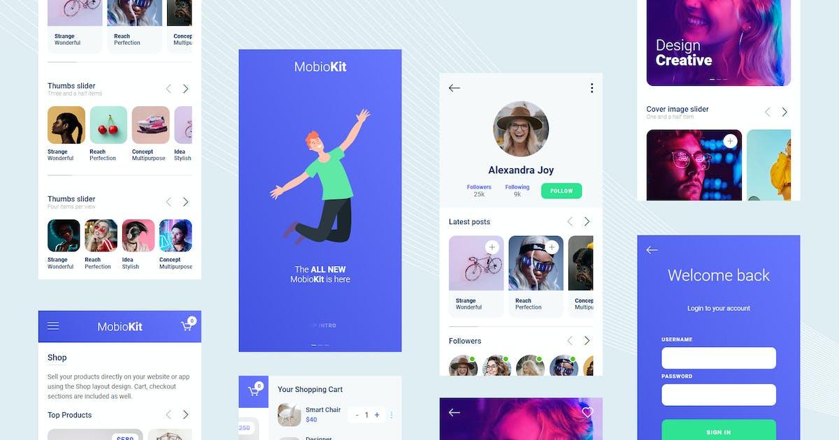 Download Mobiokit - HTML Mobile UI Kit by mobiokit