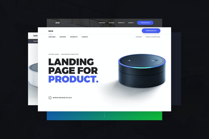 Thumbnail for Eco - Product Landing Page PSD