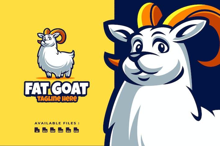 Thumbnail for Logo de dessin animé de chèvre mignon