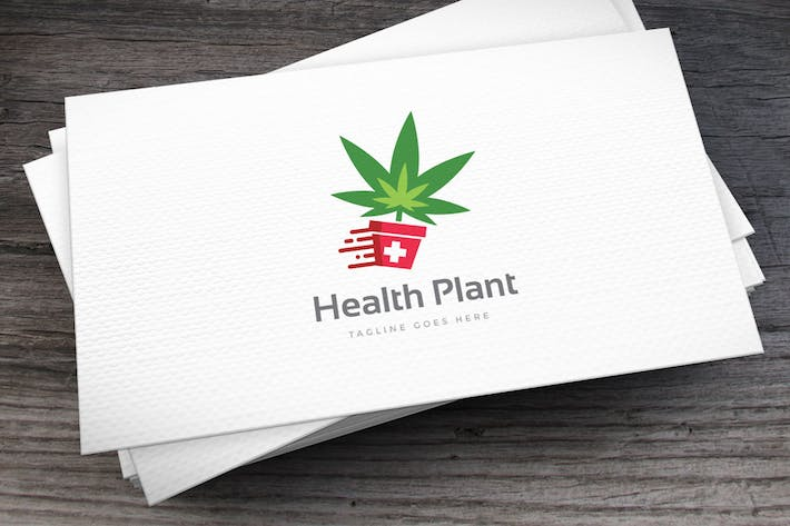 Thumbnail for Health Plant Logo Template