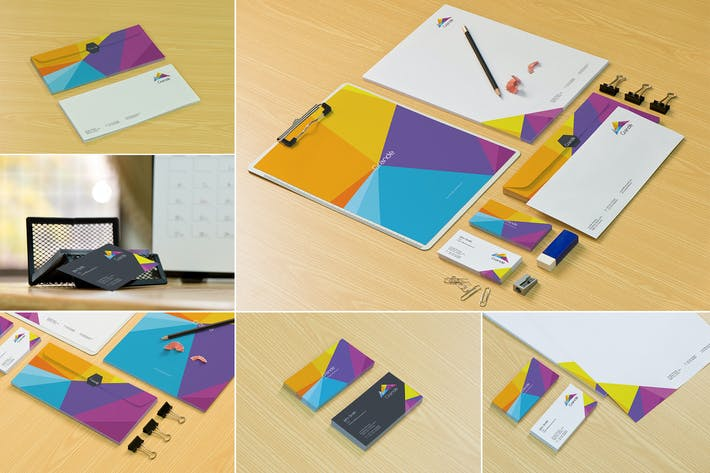 Thumbnail for Stationery Design Mockups