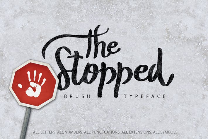 Thumbnail for The Stopped Brush Typeface