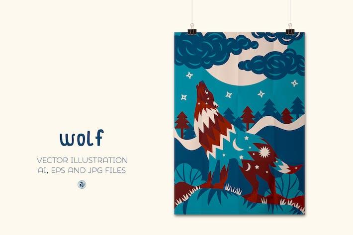 Thumbnail for Wolf - vector illustration