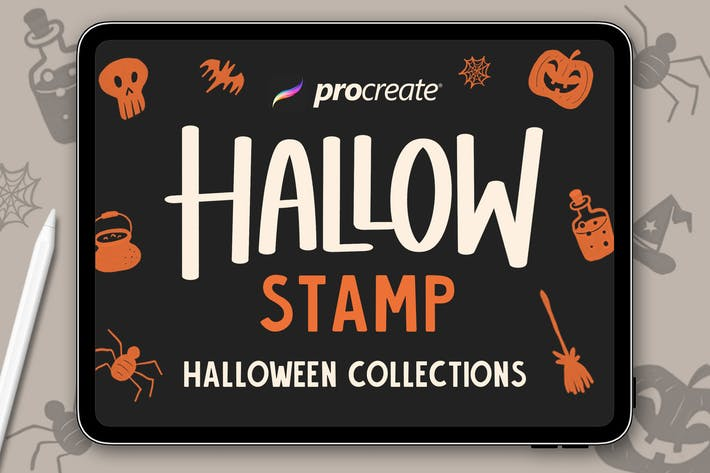 Thumbnail for Hallow Stamp - Procreate Brush