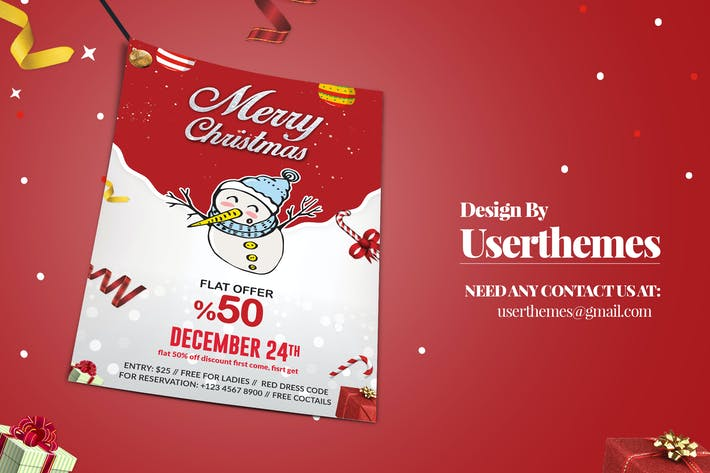 Thumbnail for Christmas Discount Flyer marketing Template