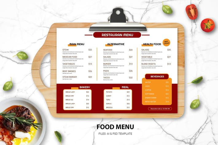 Thumbnail for Menu alimentaire minimaliste