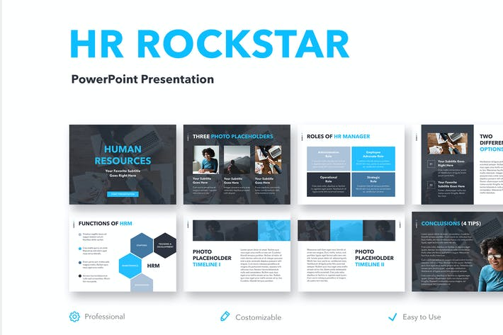Thumbnail for HR Rockstar PowerPoint Template
