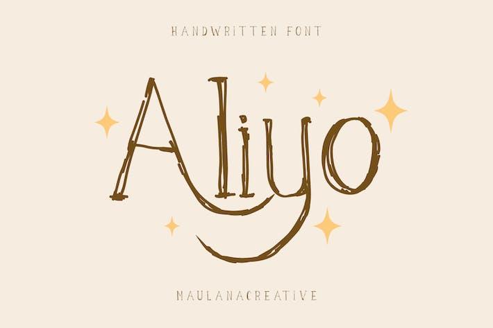 Fuente manuscrita Aliyo