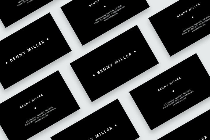 Cover Image For Minimal black business card
