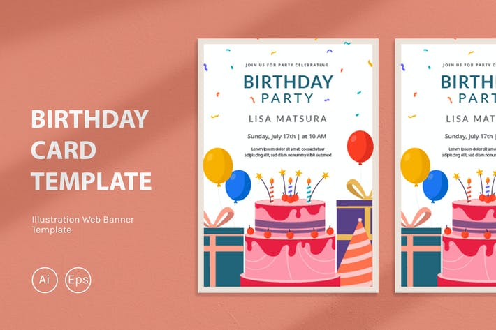 Thumbnail for Birthday Card Template